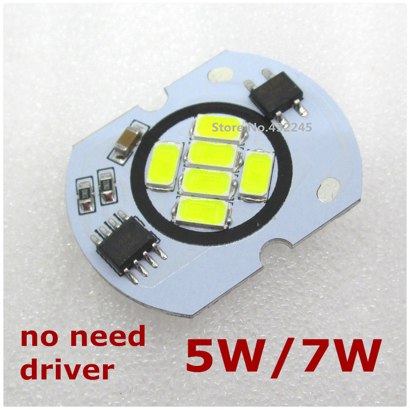 AC 220V directly 5W 7W COB Shape Integrated IC LED PCB With SMD 5730 Aluminum Base Plate no need driver. free shipping.
