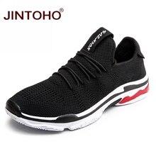 JINTOHO zapatillas de deporte de talla grande para hombre, zapatos informales de malla, a la moda, coreanos, para verano