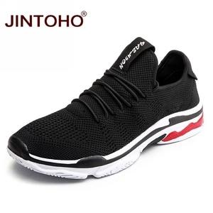 Image 1 - Jintoho 빅 사이즈 유니섹스 스니커즈 신발 여름 메쉬 캐주얼 신발 브랜드 남성 패션 신발 저렴한 남성 스니커즈 한국 남성 신발