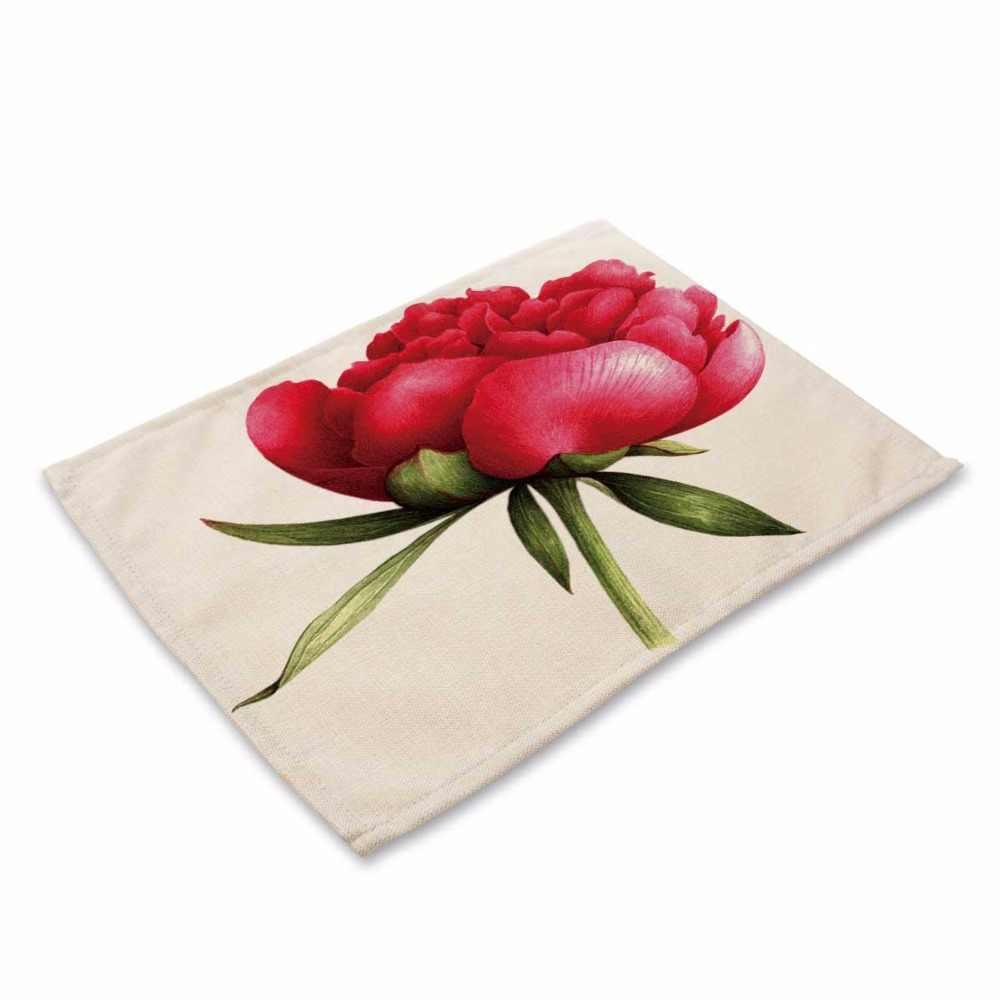 Mode fleur Rose motif tapis de Table cuisine décoration Table serviette pour mariage Table tapis napperon à manger accessoires
