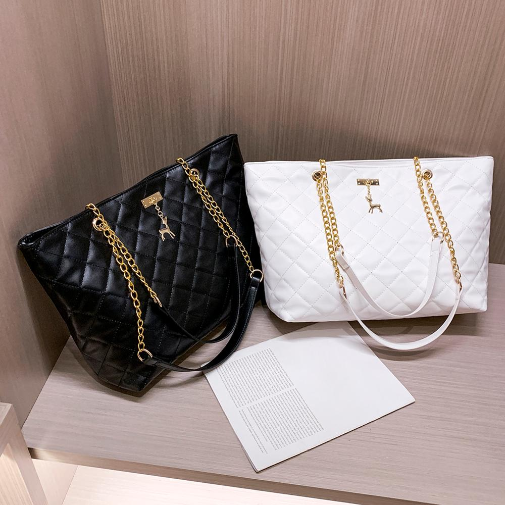 Women Bag 2019 Leather Handbag Designer Brand Luxury Large Capacity Of Rhombic Chain Leather Ladies Shoulder Crossbody Women Bag