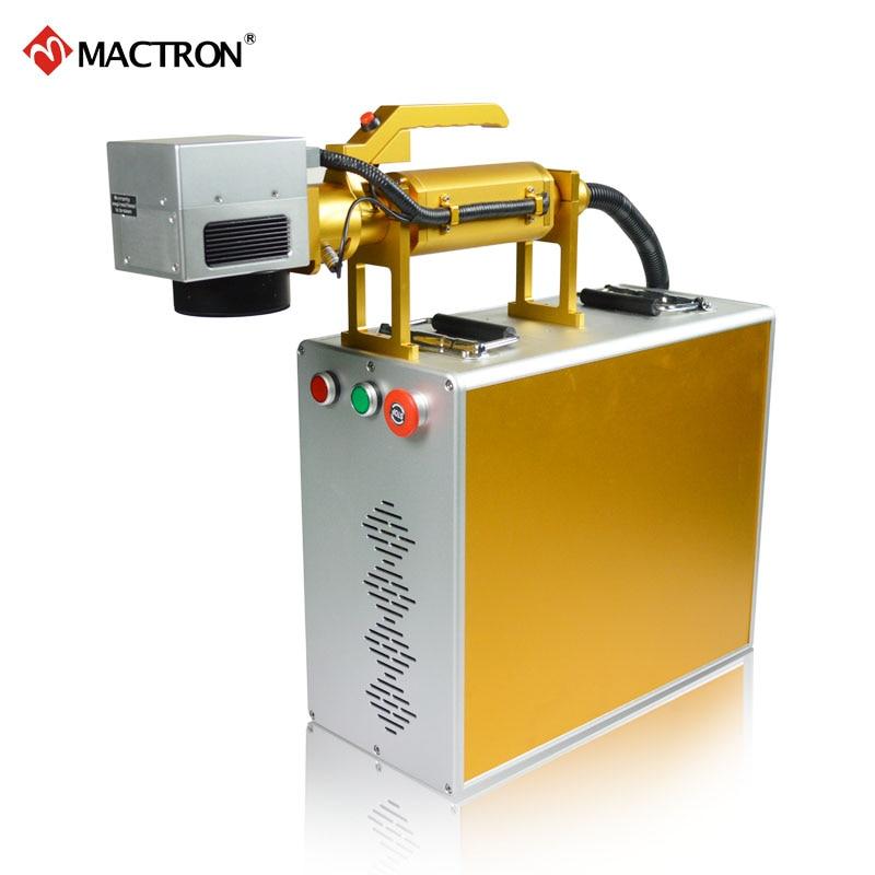 Marcatore laser portatile Mactron marca 20W fibra portatile per - Attrezzature per la lavorazione del legno - Fotografia 2