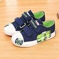 2017 nuevos niños del resorte de lona shoes sport casual denim niños cartón planos respirables niños shoes sneakers calzado infantil