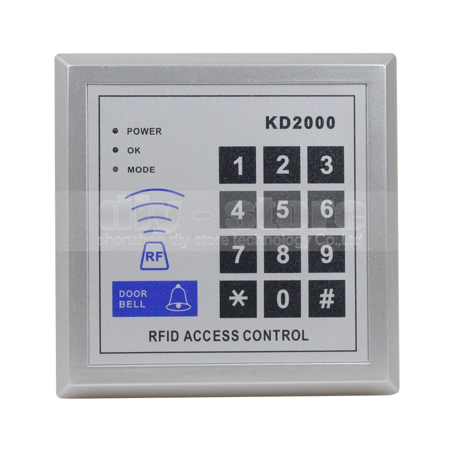 DIYSECUR 125KHz RFID Proximity Door RFID ID Card Reader Access Control Keypad KD2000DIYSECUR 125KHz RFID Proximity Door RFID ID Card Reader Access Control Keypad KD2000