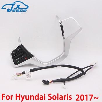 Dla Hyundai Solaris 2017-2018 Multimedialny steering wheel control przycisk przycisk przycisk zdalnego sterowania Bluetooth telefon