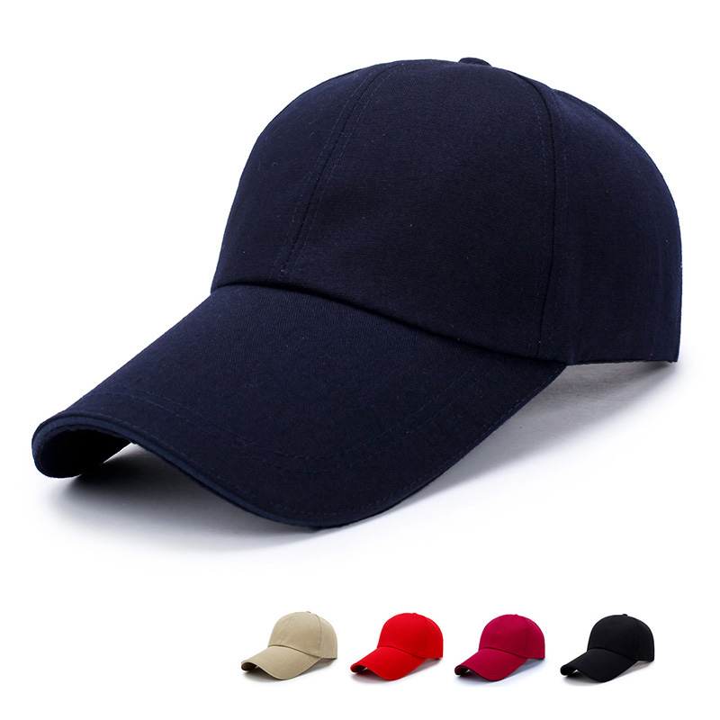 Casual Cotton   Baseball     Cap   Hat For Women Men Casquette Sports Golf   Caps   Long Visor Brim Shade Snapback Sun Hat Bone Gorras