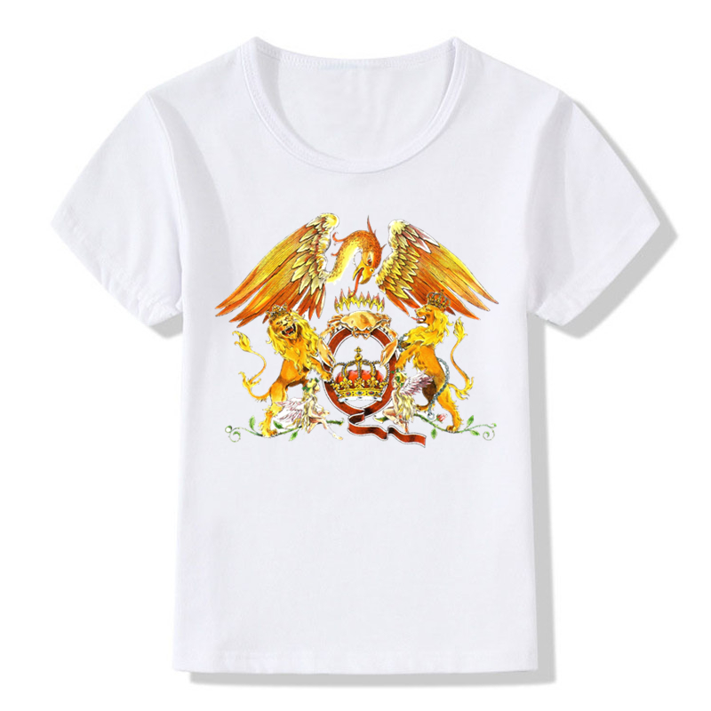 Kids boys girls Toddler Queen Freddie Mercury Tribute Cotton t shirt tee