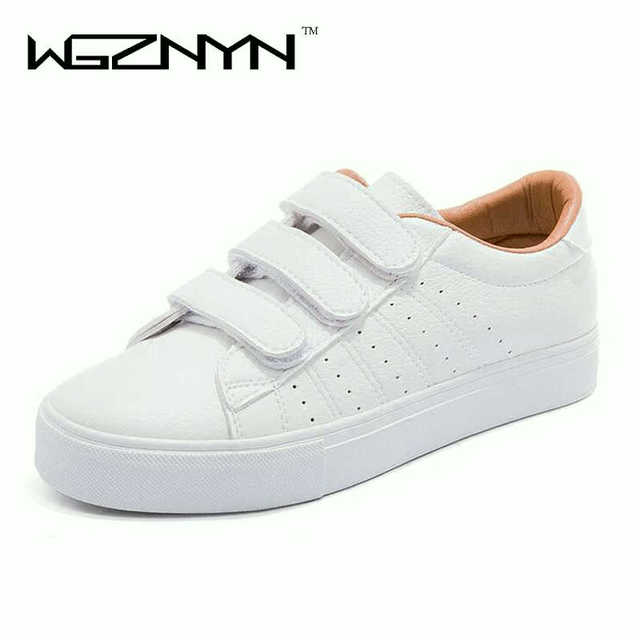 9ca878ed0c new fashion women shoes casual high platform hole PU leather striped simple  Basket femme women casual white shoes sneakers W055