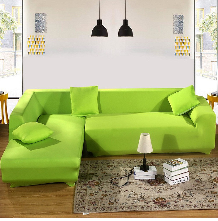 L Shape Stretch Elastic Fabric Sofa Cover Pet Corner Couch