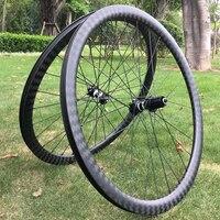 Very shine 12K twill carbon wheel durable 38 50 60 88mm tubular/clincher cyclocross road bike wheelset Disc brake custom decals