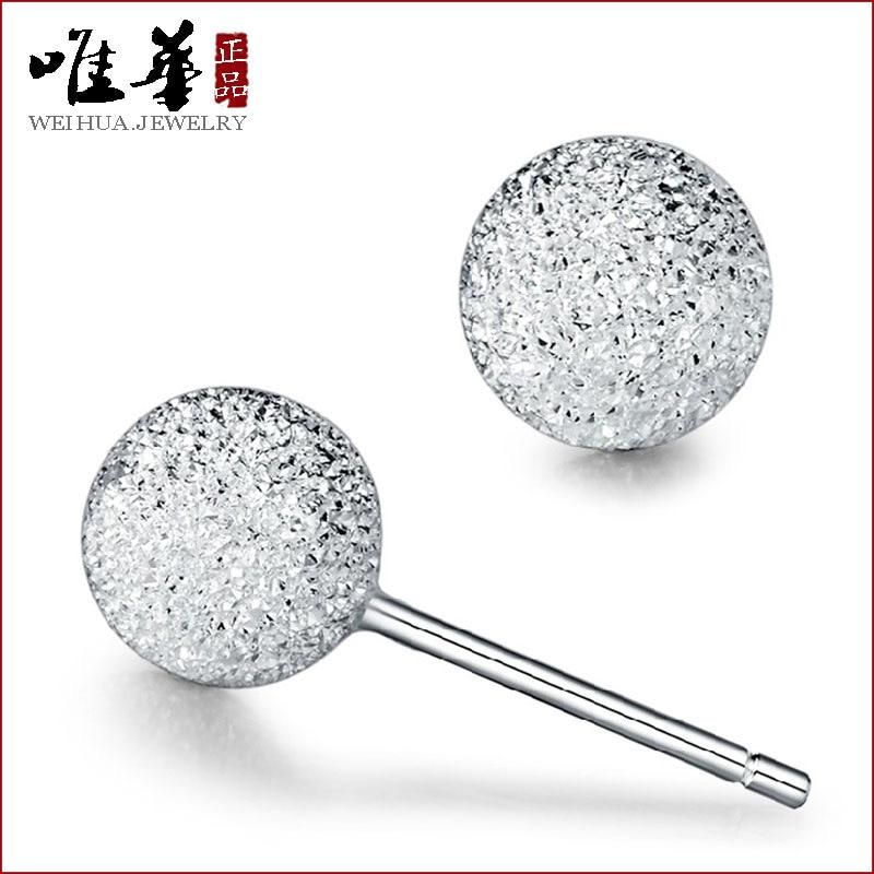 Viva S925 fosco prata Bead brincos bola de neve moda feminina fabricantes  de jóias por atacado versão coreana do ouvido 18922d3be59