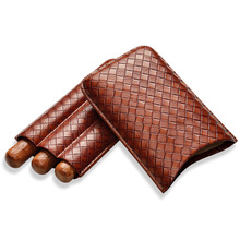 Cigar Set Wrinkle Sleeve Moisturizing Case Portable Three Packed Cover CP-1018