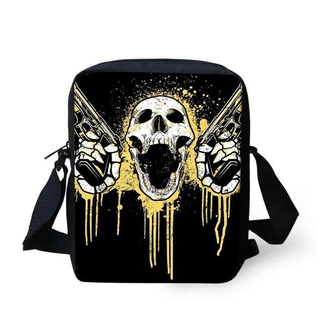 0a3895fc3c FORUDESIGNS Hot Men Cool Punk Skull Fashion Messenger Bags Travel Mini Shoulder  Bags Men s Crossbody Casual Small Phone Bags Sac