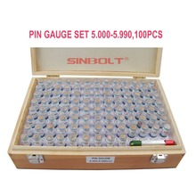 Sinbolt plug Gauge/pin gauge  Set,5.000mm--5.990mm,100pcs+Pin Gauge Handle,fast delivery!
