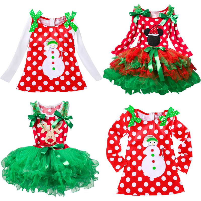 Baby Tulle Princess Dress For Girls Kids Girl New Year Christmas Party Dresses Girls Clothing Toddlers Christmas Clothes 2-6yrs