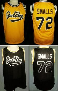 Notorious big biggie smalls bad boy  72 basketball jersey sewn white ... 9e31e632a