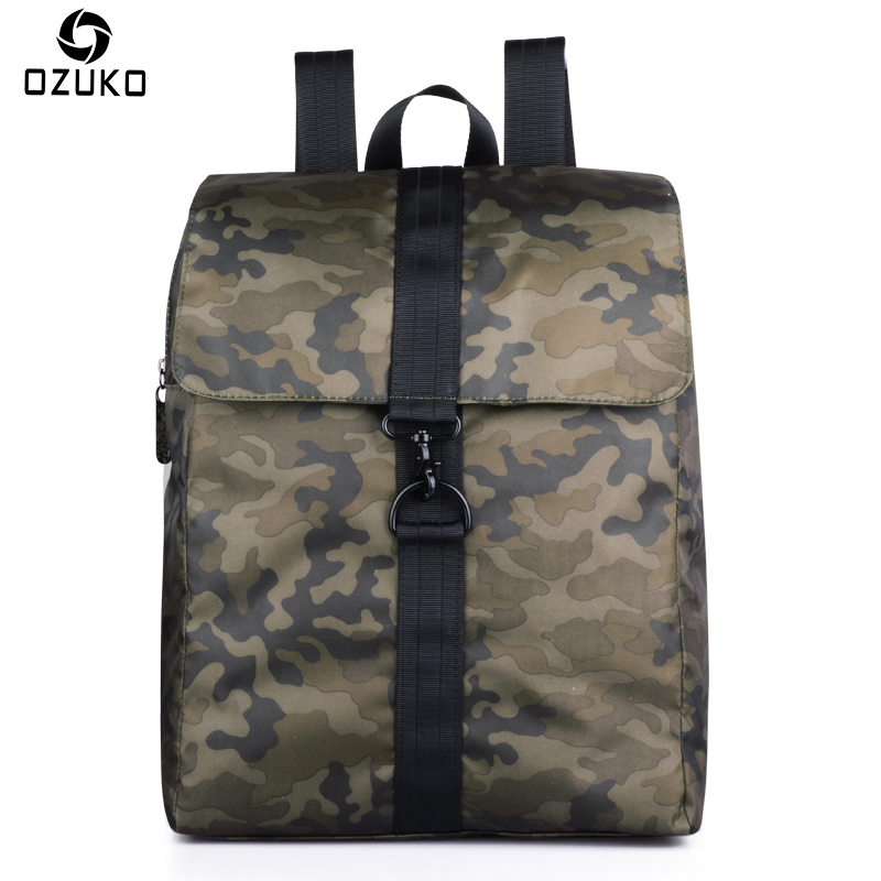 2018 OZUKO Men's Backpacks Bags Casual Travel Rucksack 14 Inch Laptop Bag Men Women Student School Bags Camouflage Shoulder Bags 2017 new masked rider laptop backpack bags cosplay animg kamen rider shoulders school student bag travel men and women backpacks