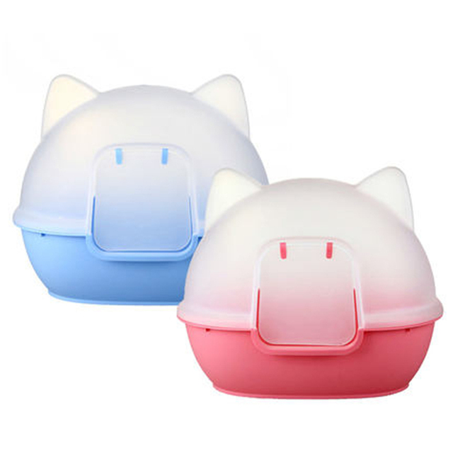 Large Litter Plastic Double Box Scoop Potties Closed Training Restroom Toilet Tray Dog Pet For Cats Sand Cat Box Litter DDM2349