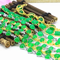 Charms 12 style green jade jasper inlay bracelets bangle for women gold plated high grade women party gift jewelry 7.5inch B1165