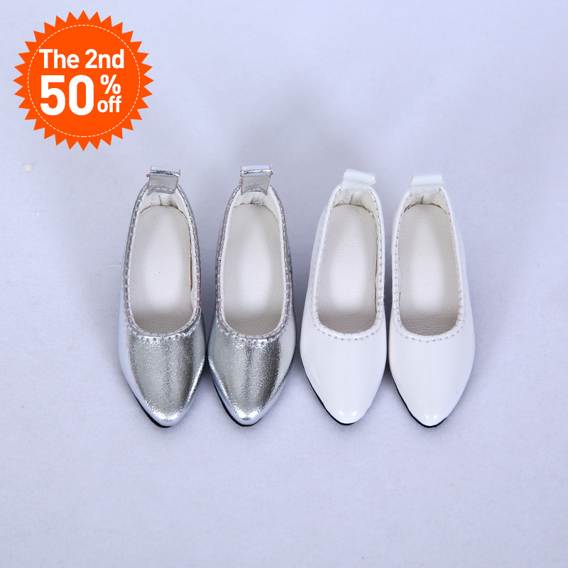 BJD Shoes 1/4 fashion high heels white silver colors Shoes For IP MSD BJD Lusis WX4-37 Length 6cm width 2.9cm Doll Accessories fashion black and white wide twill pattern 6cm width tie for men