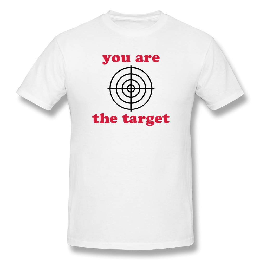 Black t shirt target -  Online Men T Shirt Short Sleeve Sniper Crosshairs You Are The