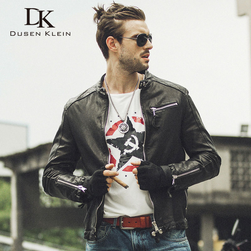 2017 Neue Männer Echtes Leder Jacke Dusen Klein Herbst Oberbekleidung Schwarz/schlank/einfache Business Stil/schaffell Mantel 14s9186 100% Garantie