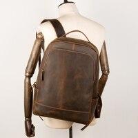 Genuine Leather Laptop Backpack Handmade Vintage Rucksack Men Business School Book Daypack Designer Weekend Shoulder Bag