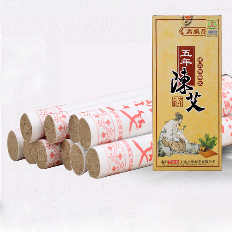Health & Beauty Chinese Top Grade Five Years Old Moxa Roll Pure Stick Moxa Moxibustion Artemisia