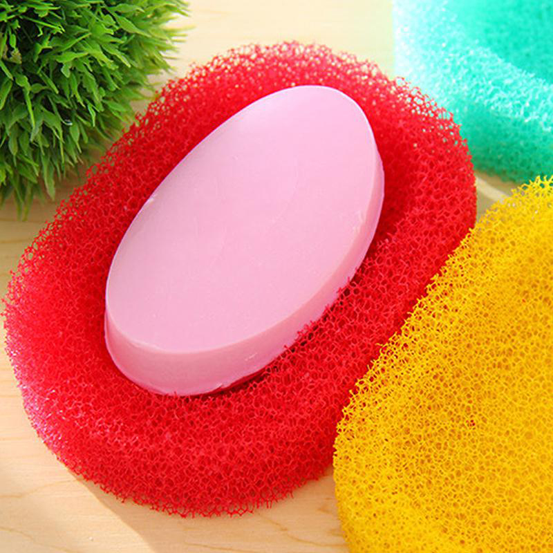 Colorful Foam Sponge Soap Dishes Box Case For Bathroom Kitchen Shower Absorbent Easy To Dry Soap Holder Plate Saver Dish Tray