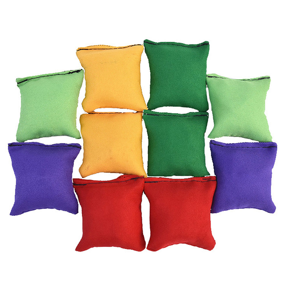 10 PCS Kids Throwing Sandbags Toy Sport Sandbags Bean Bag Toss Game Throwing Sandbag Ball Bean Bags Interactive Educational Toy