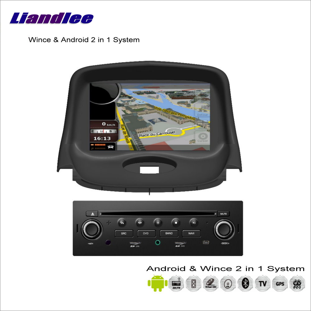 Liandlee Car <font><b>Android</b></font> Multimedia Stereo For <font><b>Peugeot</b></font> <font><b>206</b></font> 2004~2009 Radio CD DVD Player GPS Navi Navigation Audio Video S160 System image