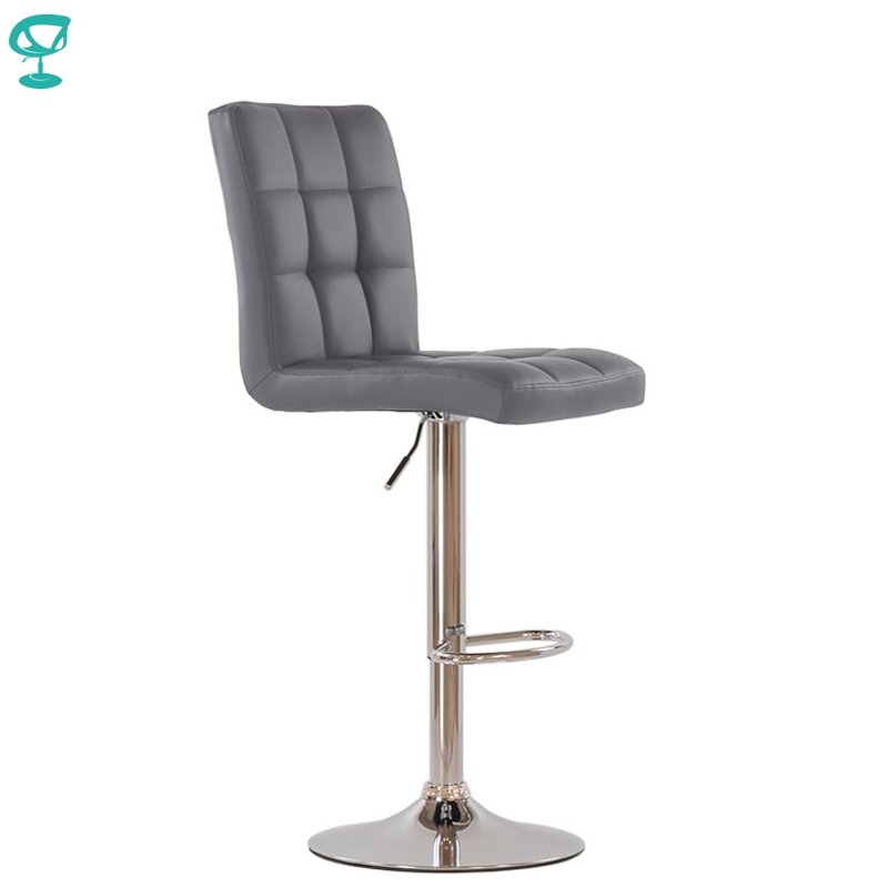95359 Barneo N-48 Leather Kitchen Breakfast Bar Stool Swivel Bar Chair Gray Color Free Shipping In Russia