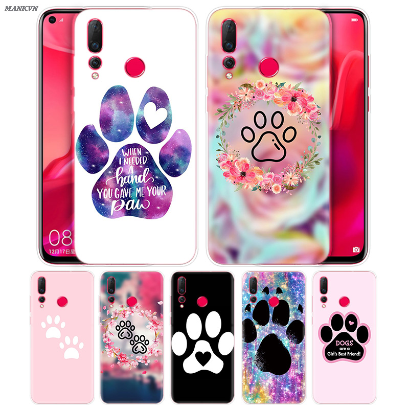 Dogs Are <font><b>Girls</b></font> Best friends Dog Paw Soft <font><b>Case</b></font> for <font><b>Huawei</b></font> Honor 10i 8S 8A 8C 8X 10 9 Y9 <font><b>Y7</b></font> Y6 Y5 Play Lite 2018 <font><b>2019</b></font> Fundas Capa image
