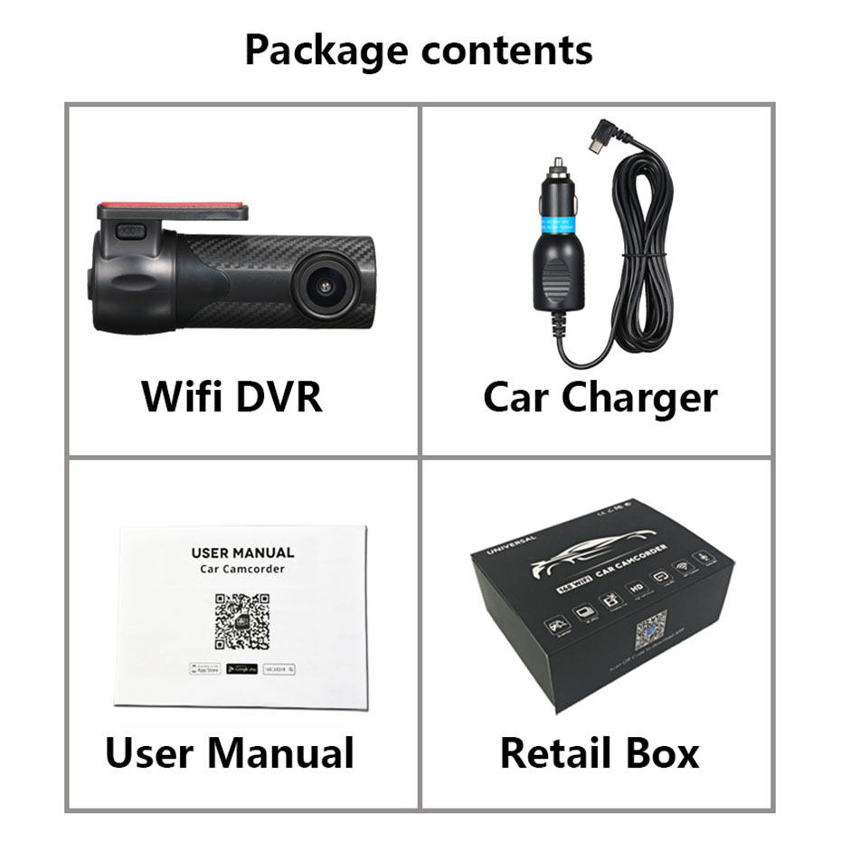 RDVR mini wifi 360 degree video recorder dash camera Registrar 1080HD Dash Cam Smart Car Camera Auto Recorder G sensor in DVR Dash Camera from Automobiles Motorcycles