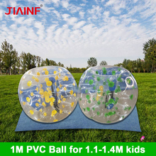 1m Colorful Zorb Soccer Ball PVC Inflatable Bubble Soccer Football Ball/pump for Boys Girls Adult Family Outdoor Game Sport Ball high quality 18cm diameter 7 giant inflatable snooker soccer ball in snookball game huge billiards ball air pump 16 pcs soccer