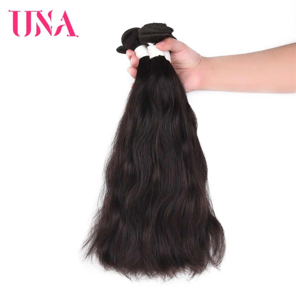 UNA бразильские волосы ткет 3 Связки сделка пряди натуральных волос # натуральный цвет натуральные волосы утки не Реми наращивание волос 8-26 дюйм(ов) ов)