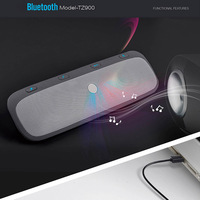 Bluetooth Music Playing Auto Bluetooth Car Kit Hand free Phone with Vehicle Sunshade for Telegraph Number English Speakers