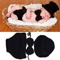 Negro cor baby boy crochet hat bowtie & diaper set crochet baby boy gentleman costume newborn coming home outfit mzs-15021