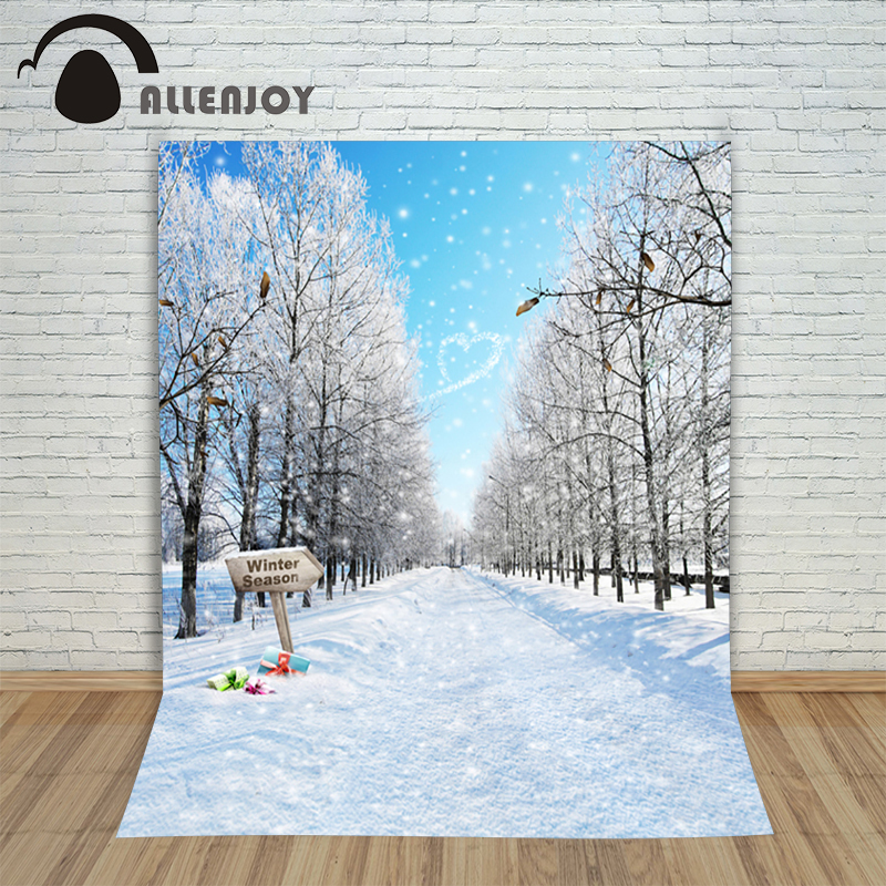 Christmas Winter Wonderland Background White Snow Road Presents Winter Background