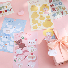 1pcs/lot Kawaii Children's Series Decorative Stickers Diary Sticker Scrapbook Cute DIY Stickers School Office Supply novelty gudetama lazy egg cartoon stickers diary sticker scrapbook decoration pvc stationery diy stickers school office supply