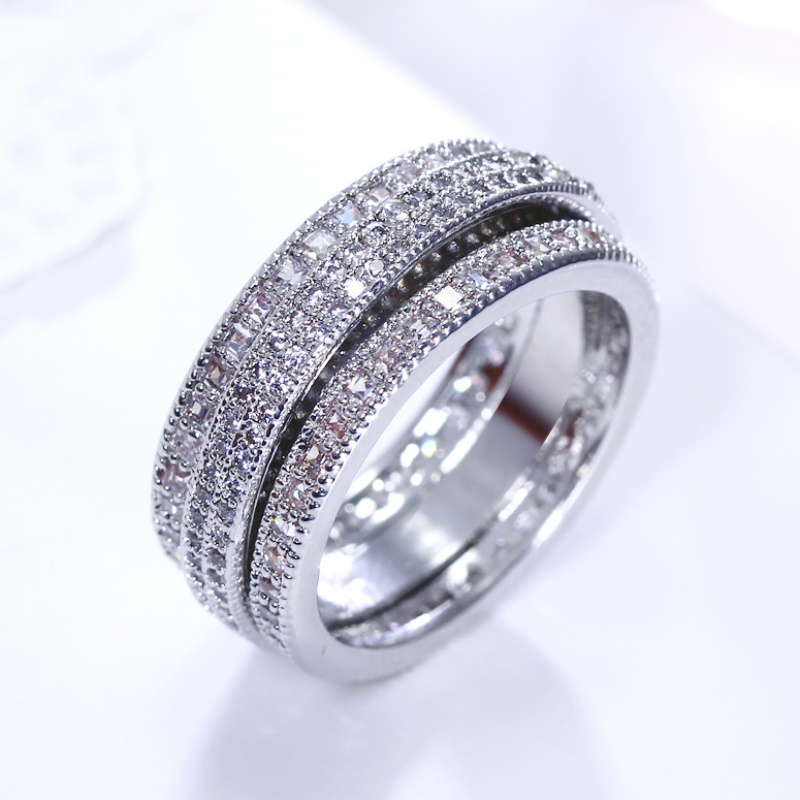 Full Paved Stones CZ Zircon Top Quality Free Shipping Women Luxury Wedding Jewellery Rotate Cute Design