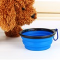 Hot Sell 6 Colors Collapsible Silicone Pet Dog Cat Feeding Bowl Compact Travel Silicone Feeder Dog Supplies