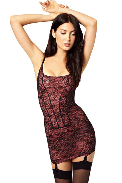 Sexy Women Lingerie Hot Costume Underwear Sex Products Erotic Porn Babydoll print Charming Stretchy Lace Chemise Garter Set 1163