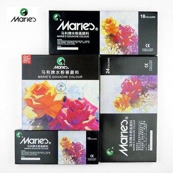 Mare'S 12/18/24 kolory gwasz w zestaw farb do najlepszych Pigment 12 ML profesjonalne farby do malowanie artystyczne do rysowania artystycznego dostaw