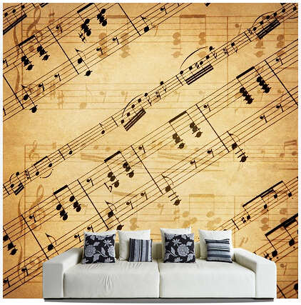 Custom papel DE parede para sala, Sheet Music murals for bedroom living room TV wall vinyl waterproof which wallpaper custom wallpaper murals ceiling the night sky for the living room bedroom ceiling wall waterproof papel de parede