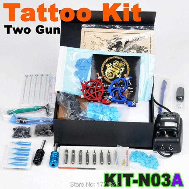 2015 melhor venda de alta qualidade Kit Tattoo conjunto completo equipamento de alimentação gun cor tintas atacado