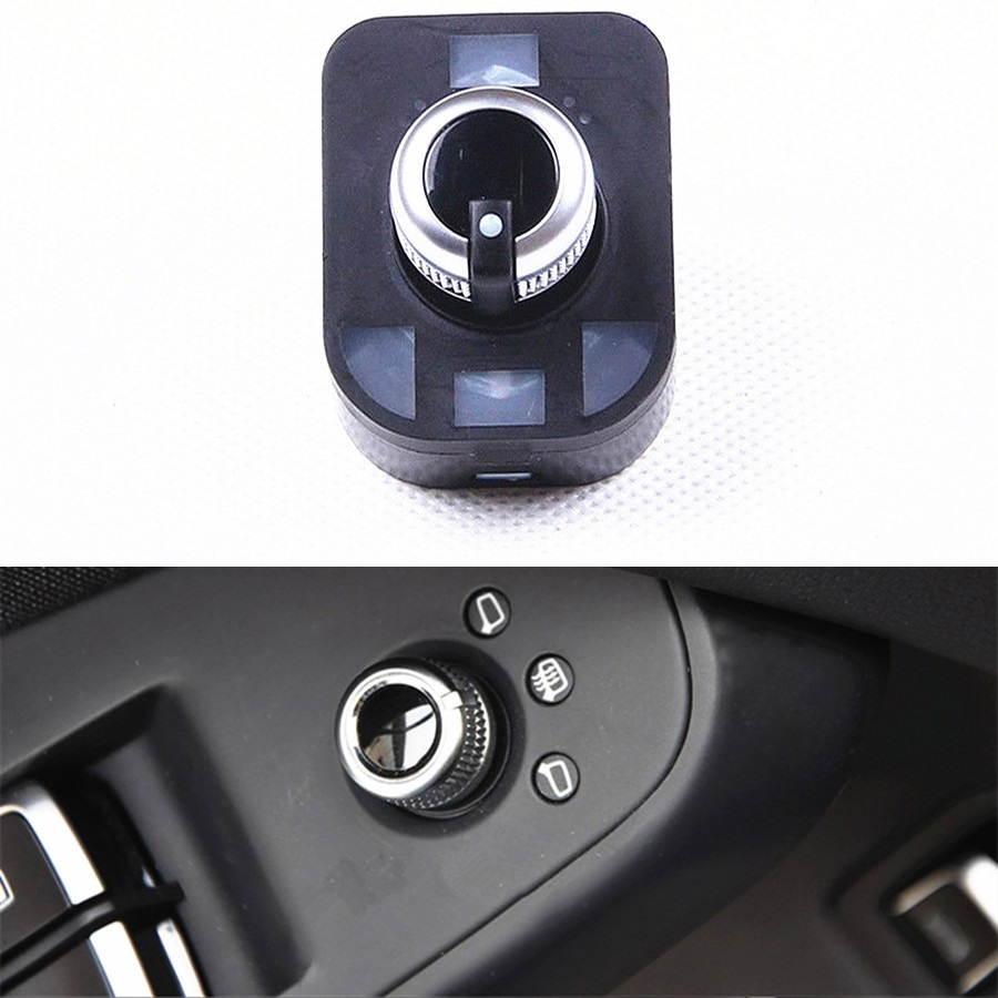 US $12 95 28% OFF COSTLYSEED Chrome Electric Mirror Adjust Switch Knob  Folding For A6 S6 C7 A7 A8 TT 4GD 959 565A 4GD 959 565 8KD959565-in Car