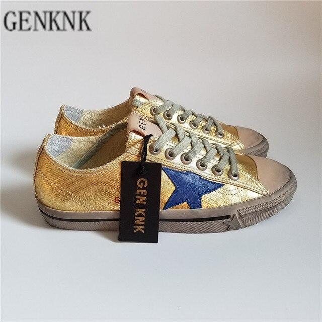 0a963372ee1 GENKNK Originele Italië Deluxe Merk Kinderschoenen Superstar Golden Canvas  Lederen Jongens Meisjes Kids Casual Schoenen lage