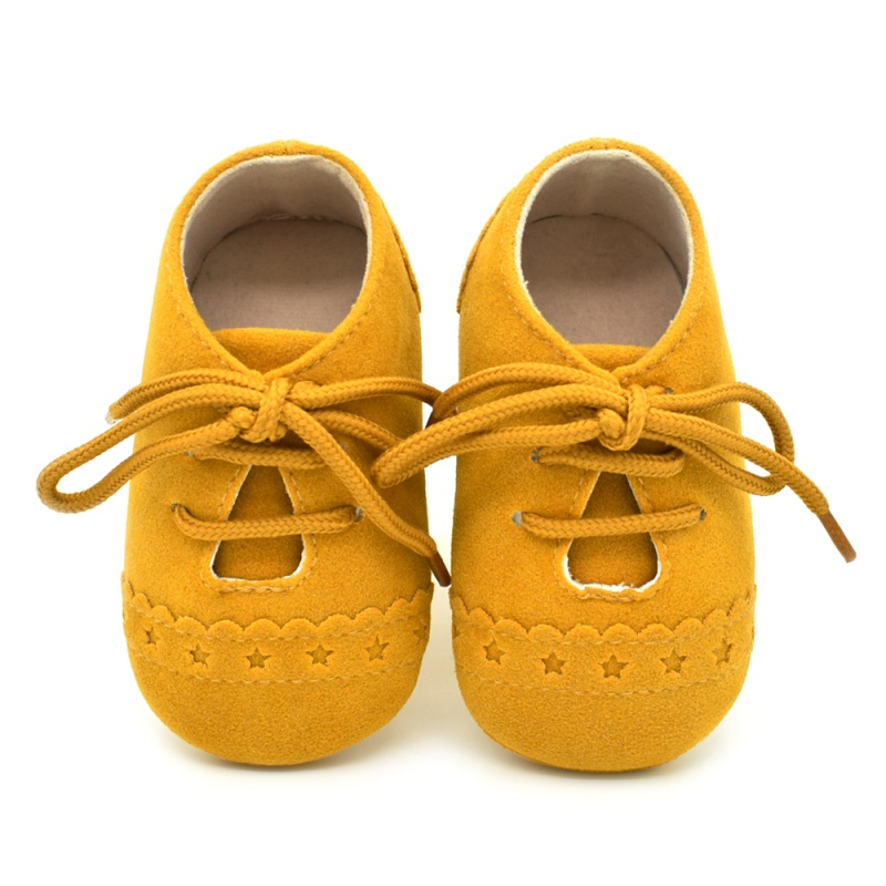 Hot sale yellow baby boys shoes newborn toddler shoes 8 colors infant boys girls pu anti-slip casual sneakers baby first walkers