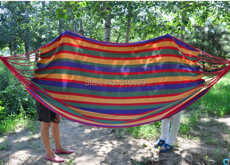free shipping 230*150cm New Huge Double Cotton Fabric Hammock Air Chair Hanging Swinging C&ing ... & free shipping 230*150cm New Huge Double Cotton Fabric Hammock Air ...